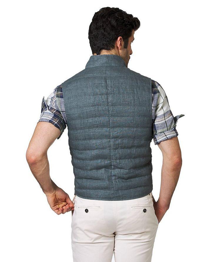 Down-Filled Linen Vest image 1