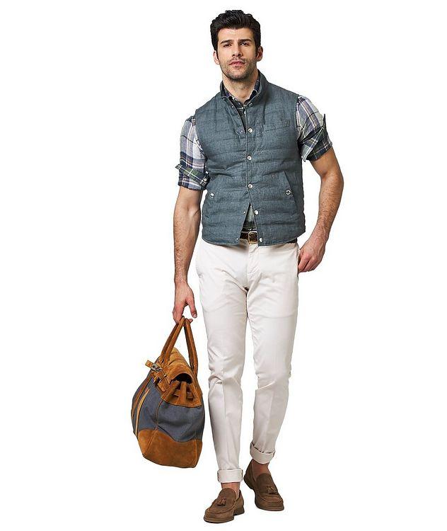 Down-Filled Linen Vest picture 4