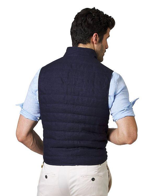 Down-Filled Linen Vest picture 2