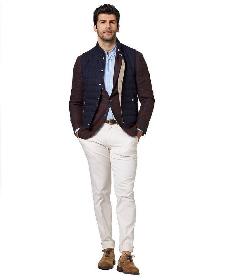 Down-Filled Linen Vest image 3