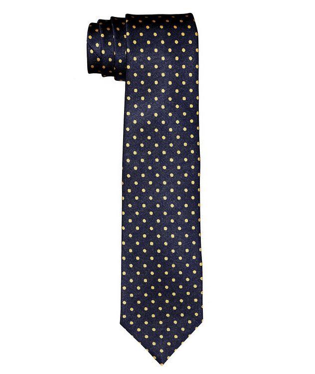 Cravate en soie à motif pointillé picture 1