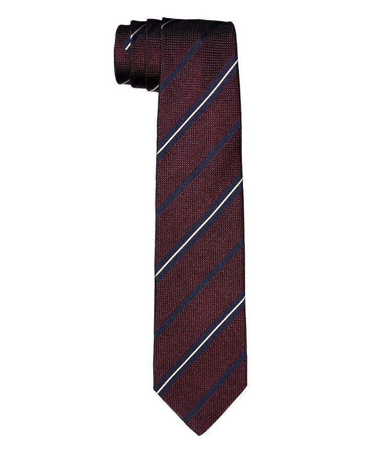 Striped Silk Tie image 0