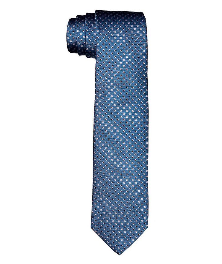 Cravate en soie à motif pointillé image 0