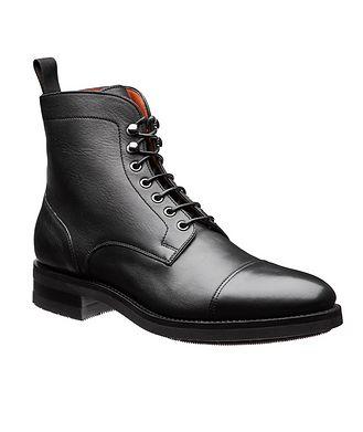 Santoni Oscar Leather Boots