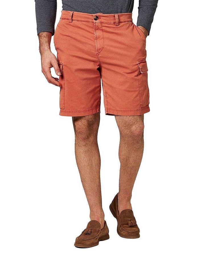 Short en jersey de coton à poches cargo image 0