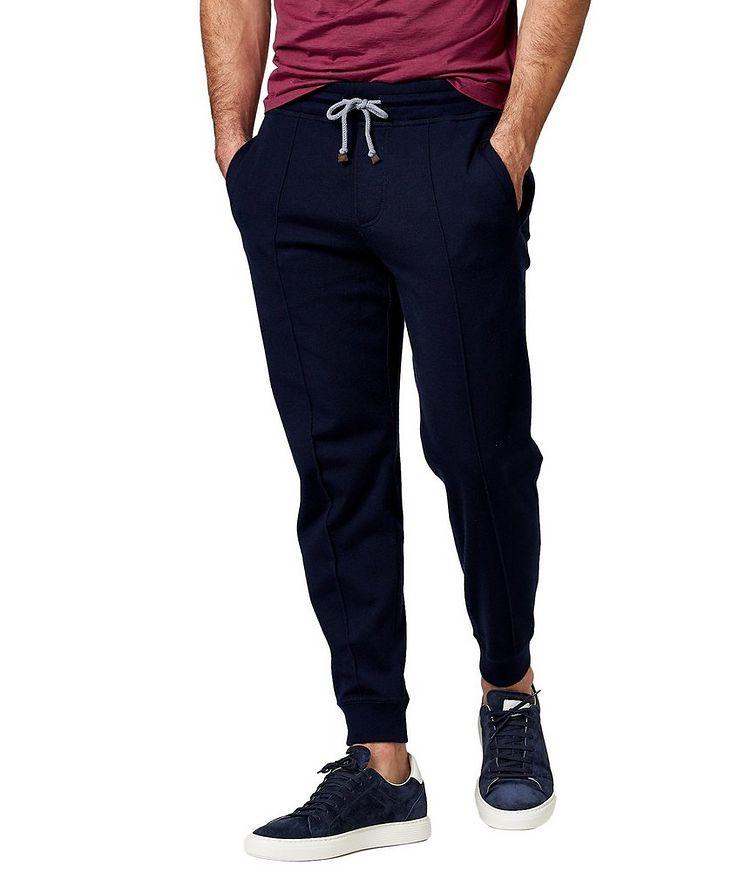 Pantalon sport en cachemire et coton image 0