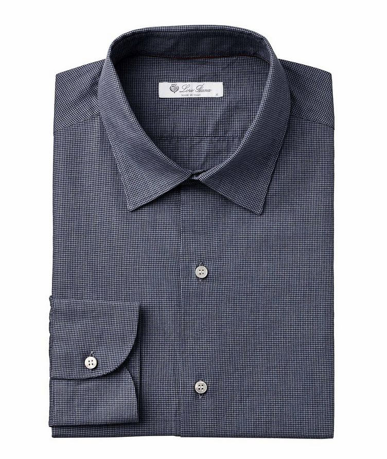 Micro-Houndstooth Cotton Shirt image 0