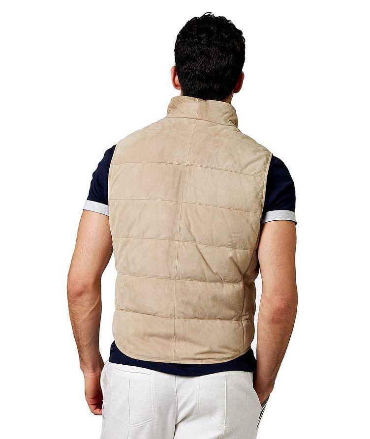 Down-Filled Suede Vest image 1