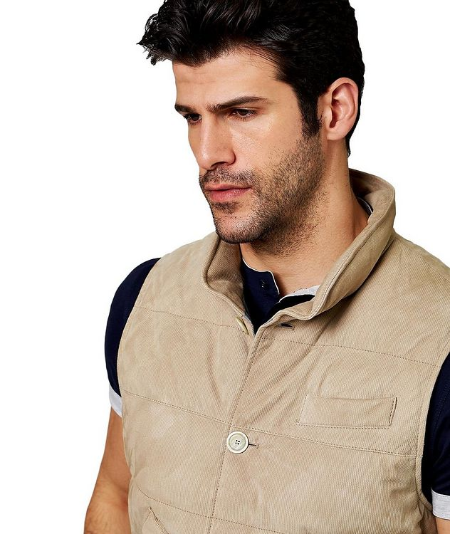 Down-Filled Suede Vest picture 3
