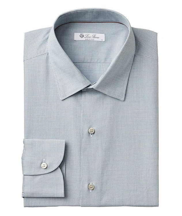 Micro-Houndstooth Cotton Shirt picture 1