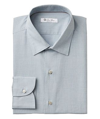 Loro Piana Micro-Houndstooth Cotton Shirt