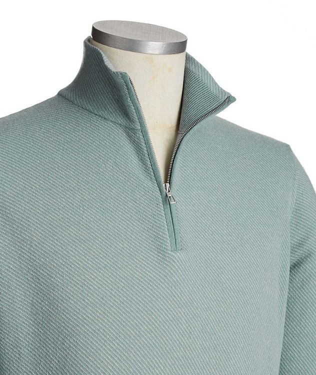 Roadster Pull Half-Zip Cashmere Sweater picture 2