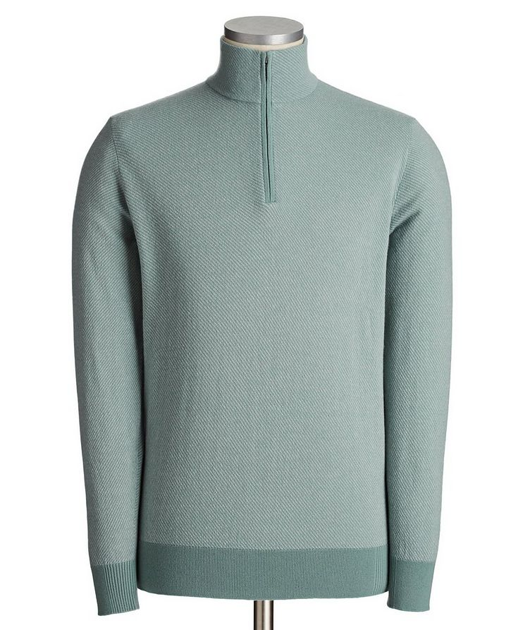 Roadster Pull Half-Zip Cashmere Sweater image 0