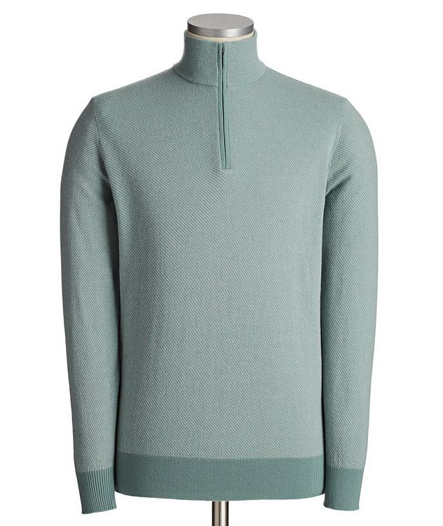 Roadster Pull Half-Zip Cashmere Sweater picture 1