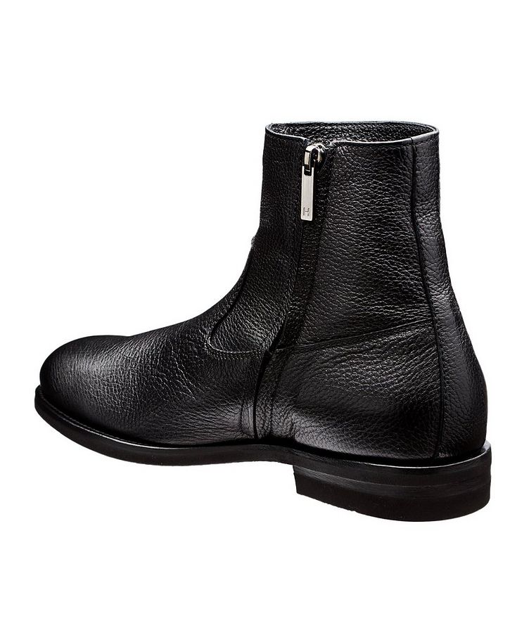Fur-Lined Deerskin Ankle Boots image 1