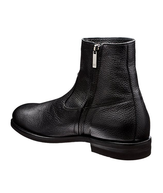 Fur-Lined Deerskin Ankle Boots picture 2