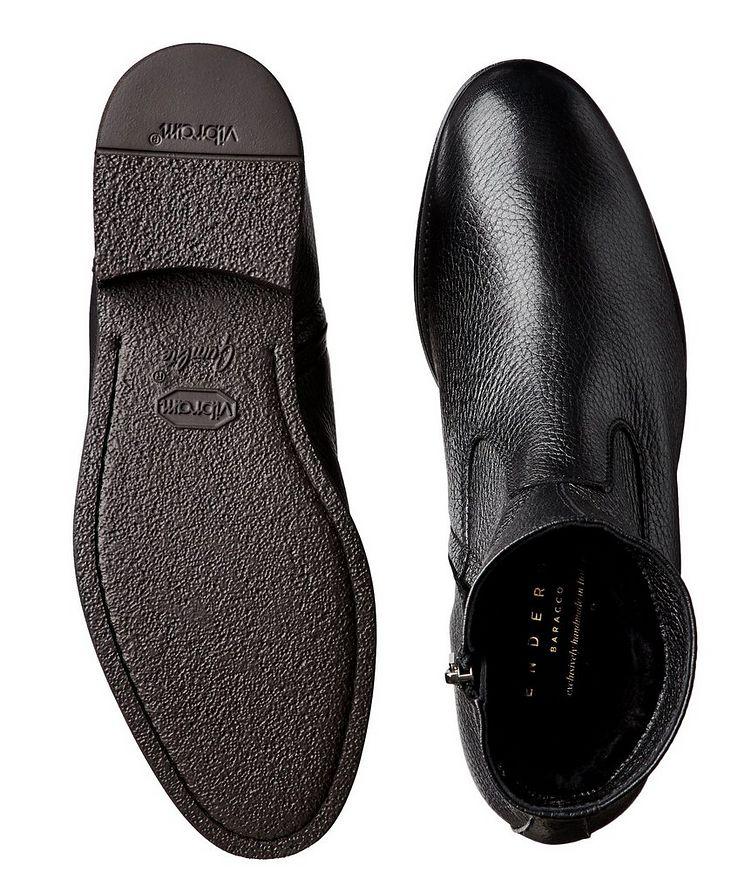 Fur-Lined Deerskin Ankle Boots image 2