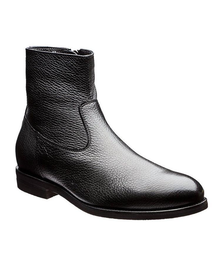 Fur-Lined Deerskin Ankle Boots image 0