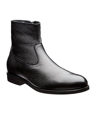Henderson for Harry Rosen Fur-Lined Deerskin Ankle Boots