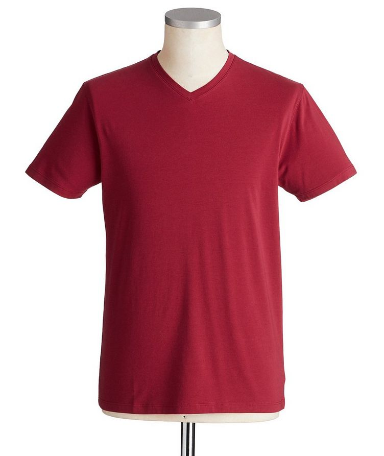 V-Neck Stretch-Cotton T-Shirt  image 0