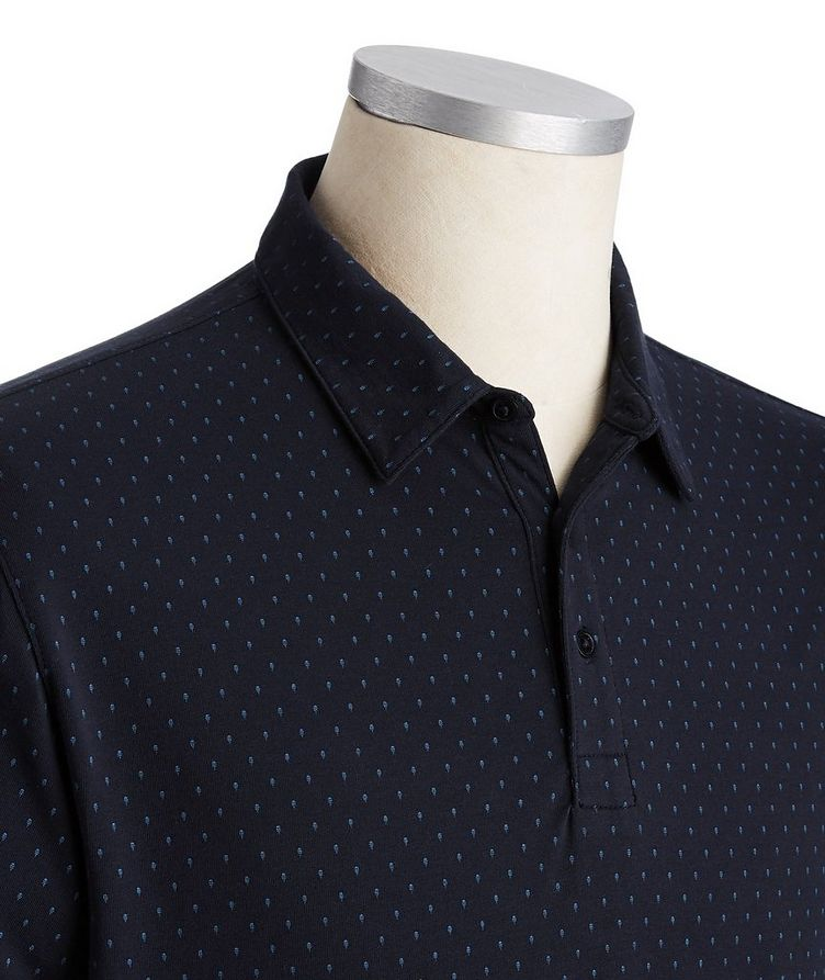 Dotted Stretch Pima Cotton Polo image 1