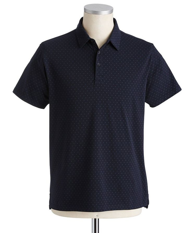 Dotted Stretch Pima Cotton Polo image 0