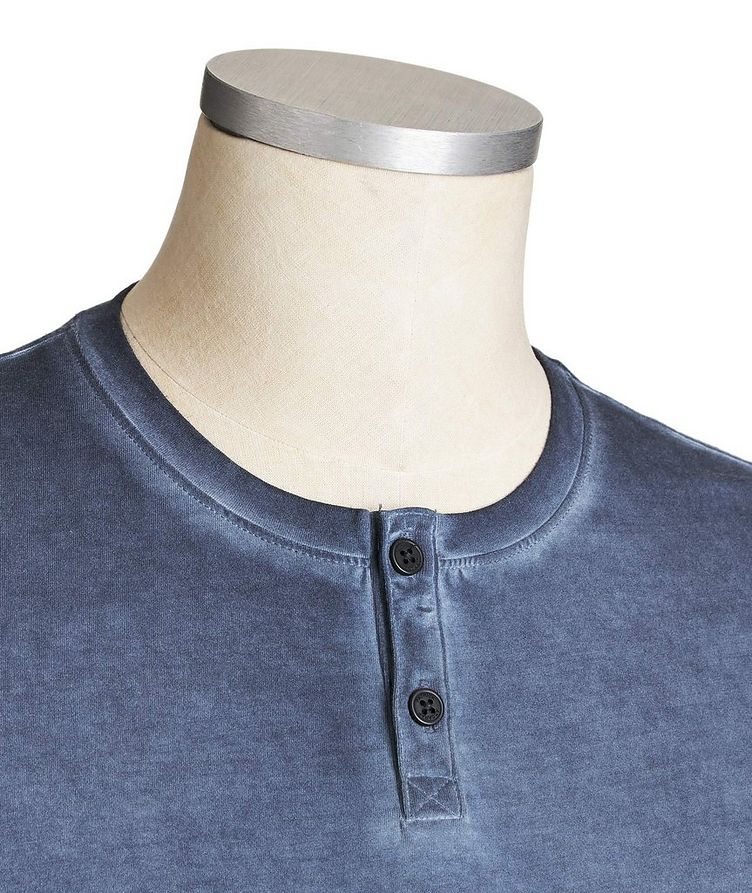 Faded Stretch-Cotton Henley image 1