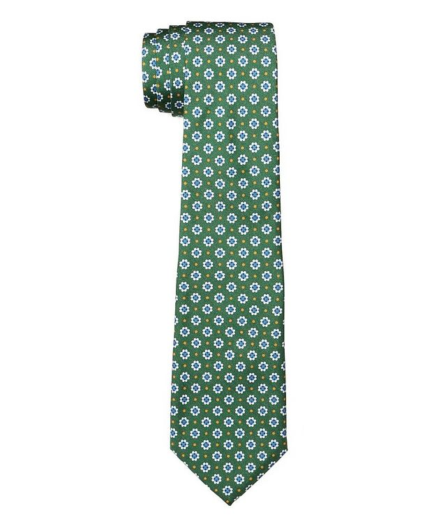 Cravate en soie à motif botanique picture 1