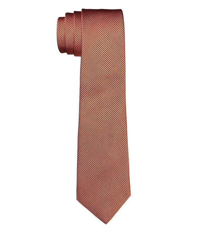 Cravate imprimée en soie et coton image 0