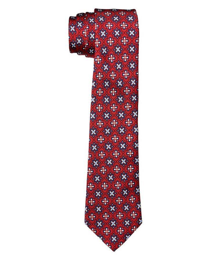 Cravate en soie à motif botanique image 0