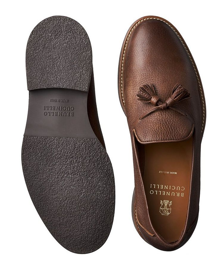 Tumbled Deerskin Loafers image 2