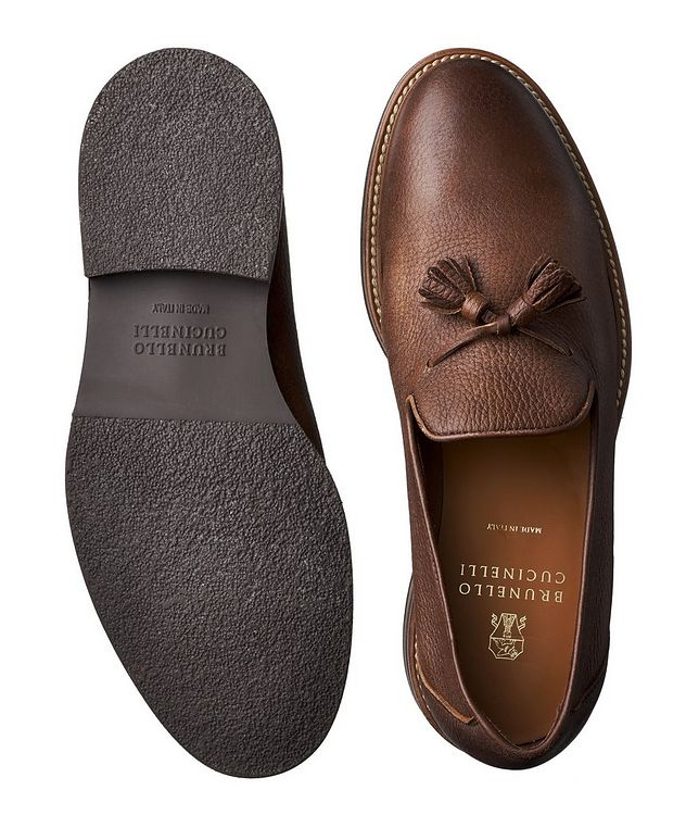 Tumbled Deerskin Loafers picture 3