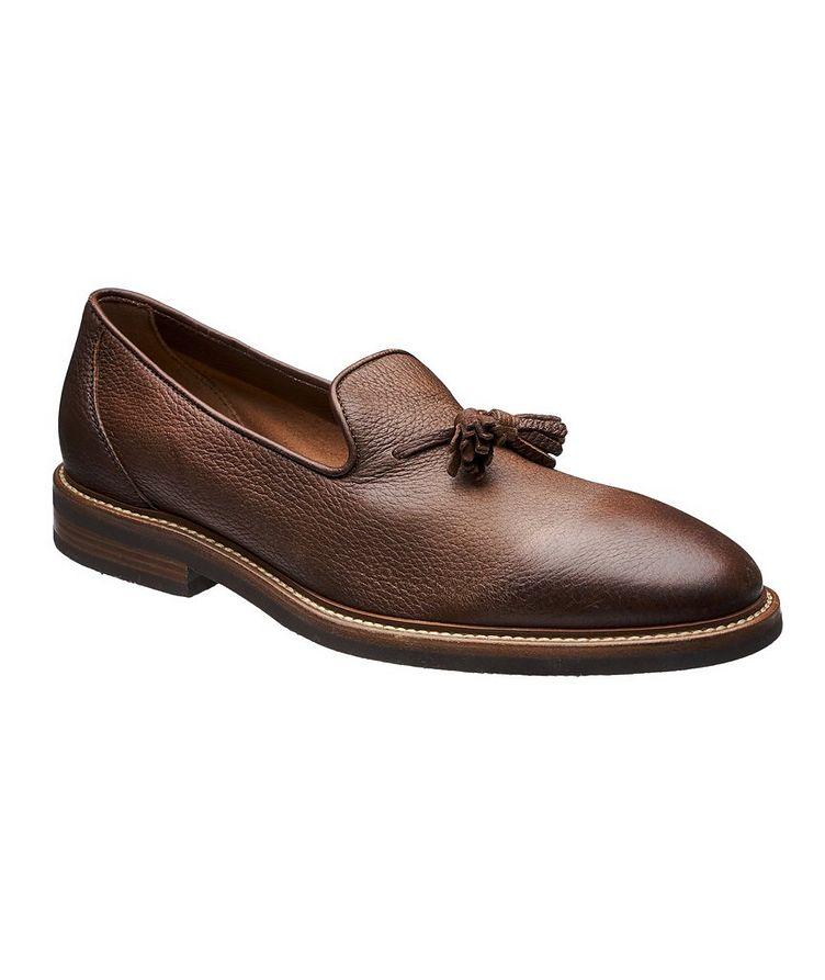Tumbled Deerskin Loafers image 0