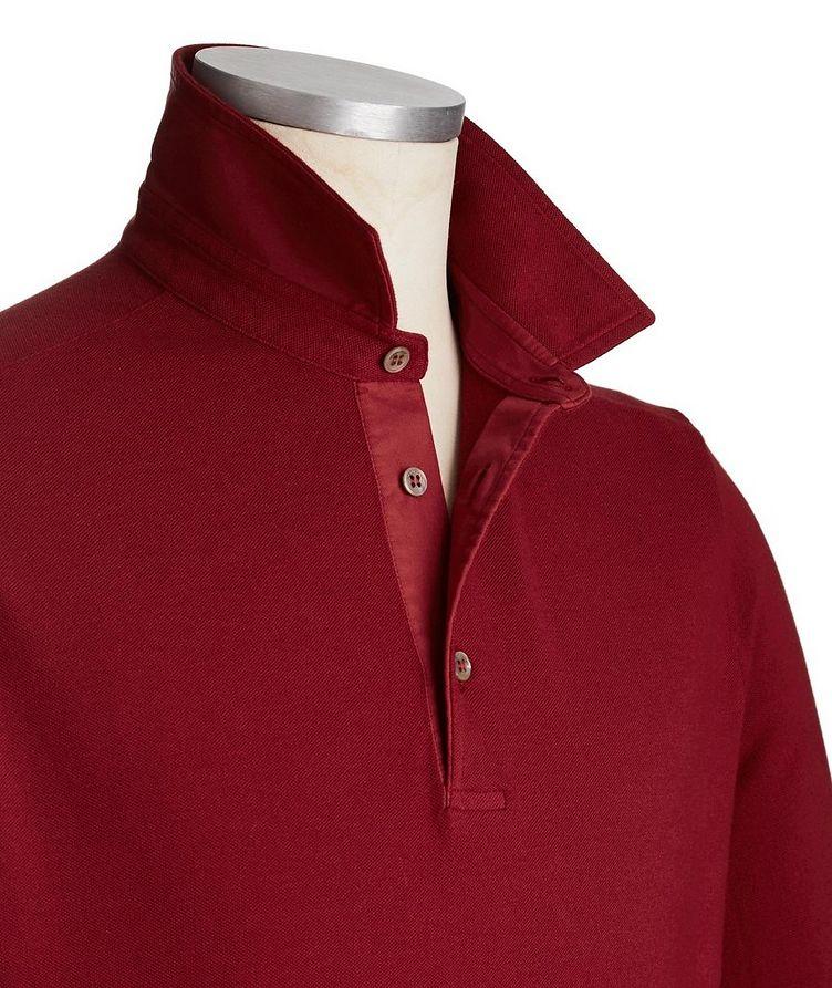 Long-Sleeve Cotton Piqué Polo image 1