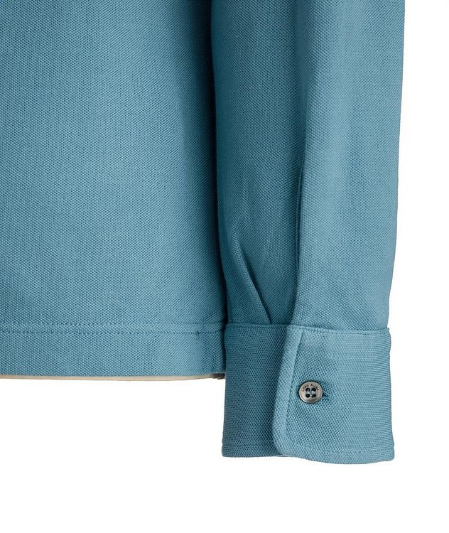 Long-Sleeve Cotton Piqué Polo picture 3