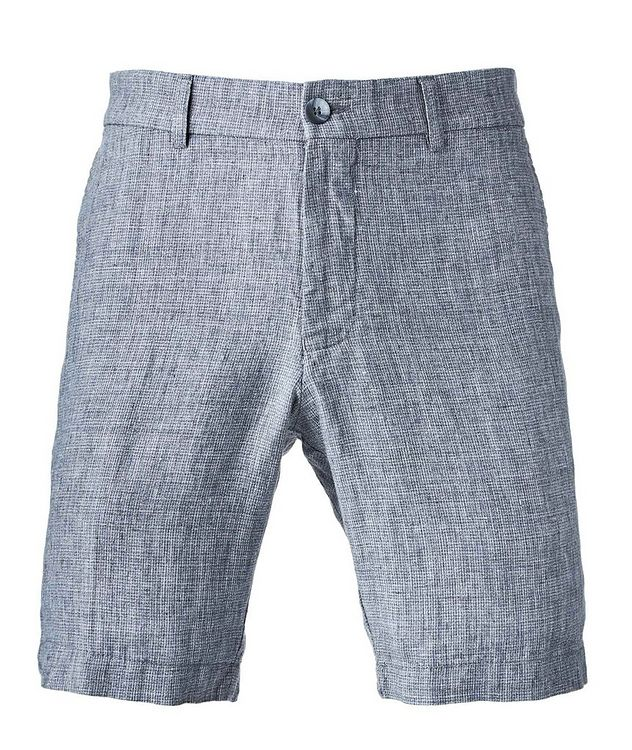 Houndstooth Linen Shorts picture 1