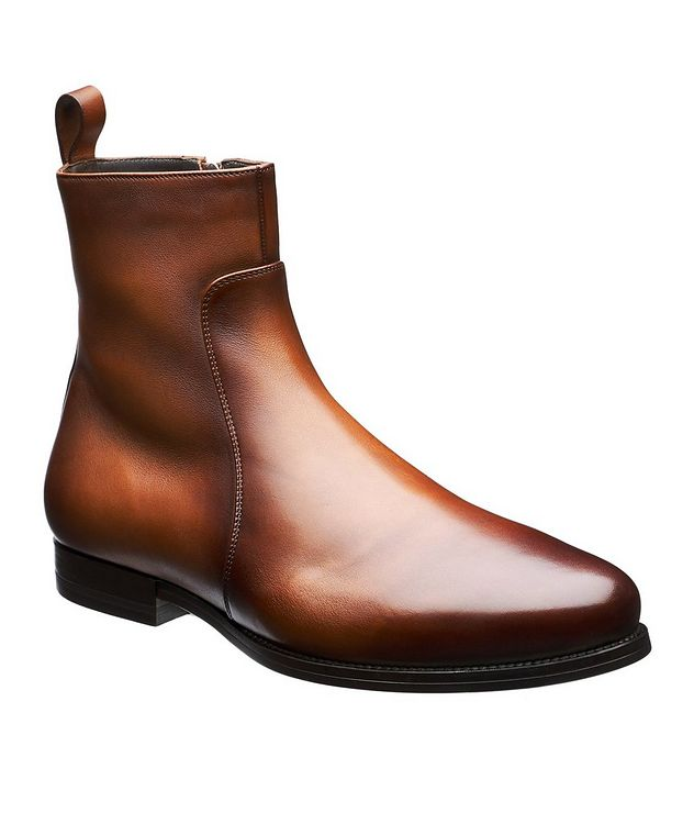 Mars Burnished Fur-Lined Boots picture 1