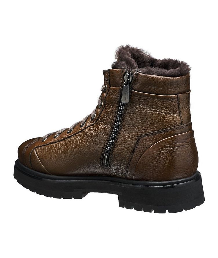Shearling-Lined Deerskin Boots image 1