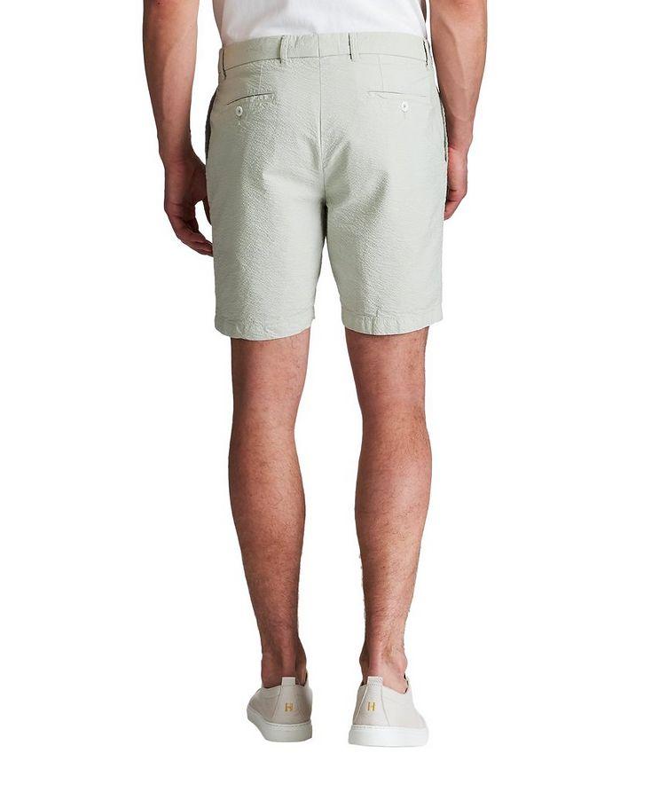 True Khaki Seersucker Shorts image 1
