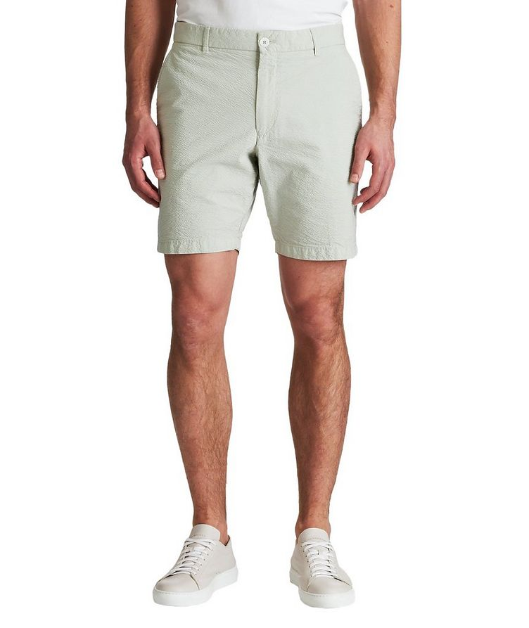 True Khaki Seersucker Shorts image 0