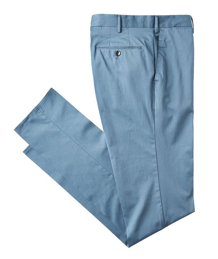 Stretch Cotton-Silk Chinos image 0