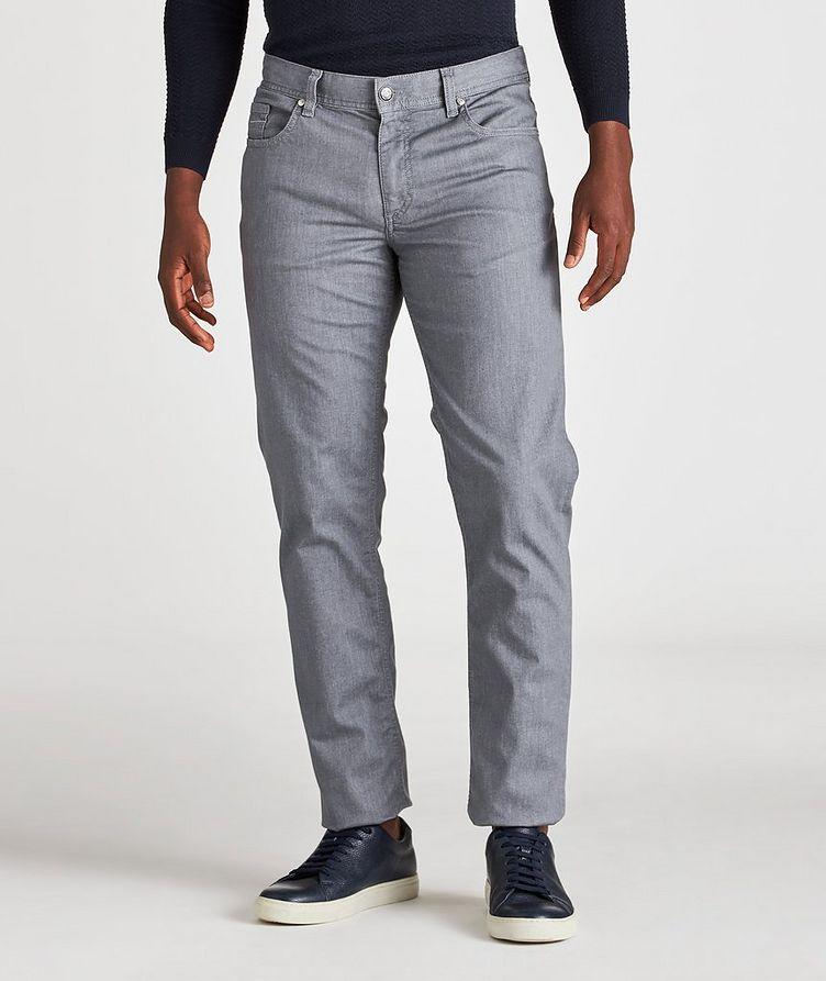 Slim-Fit Pipe Coolmax Premium Business Denim Jeans image 1