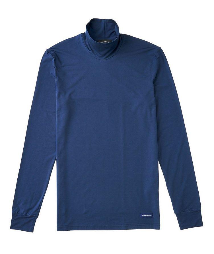 Long-Sleeve Stretch-Lyocell T-Shirt image 0