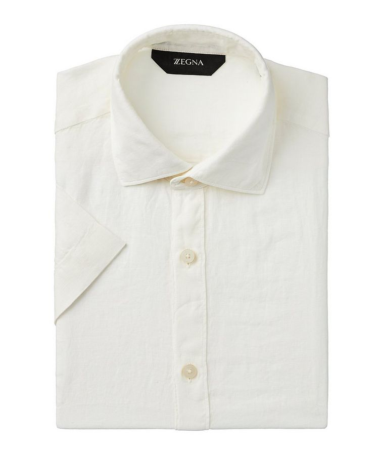 Short-Sleeve Linen Shirt image 0