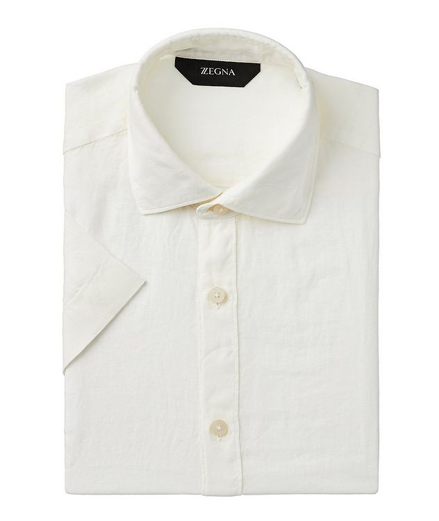 Short-Sleeve Linen Shirt picture 1