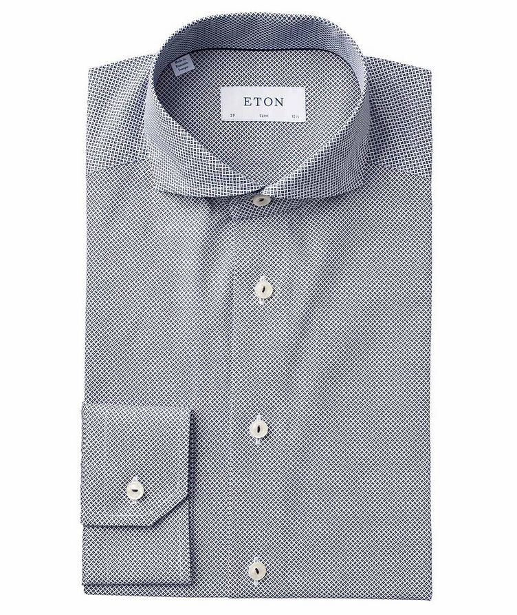 Slim Fit Neat-Printed Dress Shirt image 0