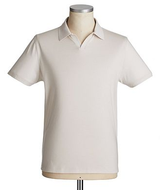 Patrick Assaraf Silk-Cotton Polo