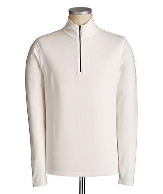 Patrick Assaraf T-shirt à manches longues et à demi-glissière
