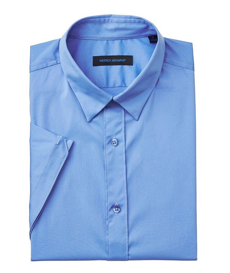 Short-Sleeve Stretch-Cotton Shirt image 0