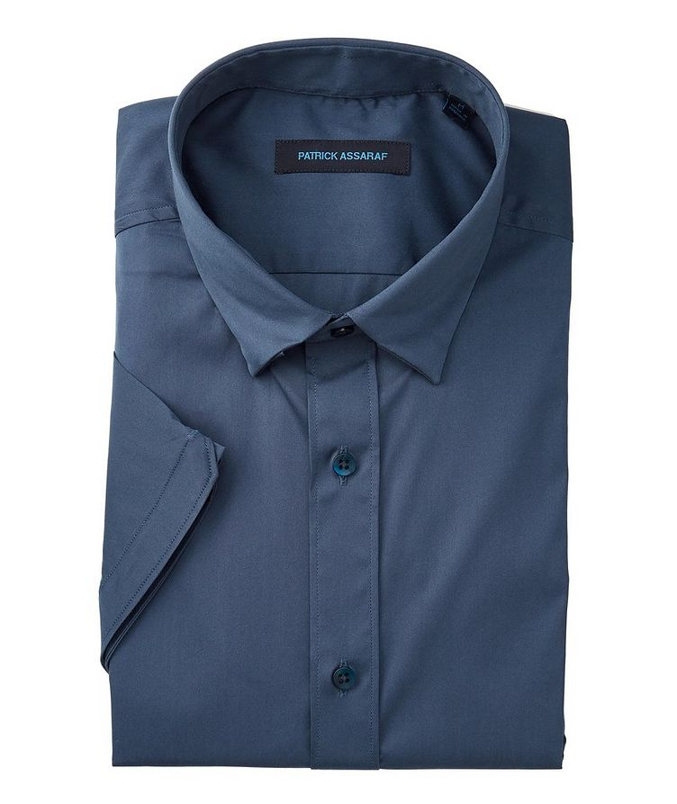 Short-Sleeve Stretch-Cotton-Blend Shirt image 0